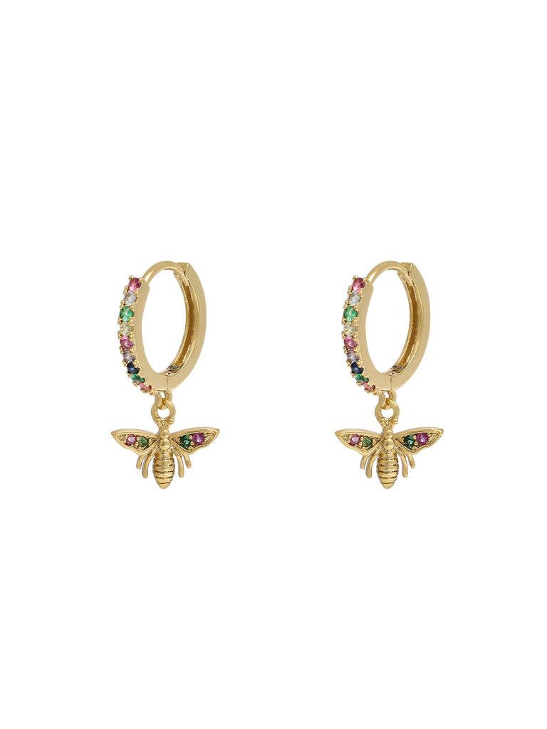 LADYLIKE THE LABEL Earrings Wealthy Wasp Gold/Multi