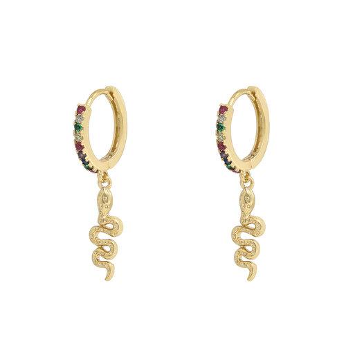 LADYLIKE THE LABEL Earrings Shiny Snake Gold/Multi