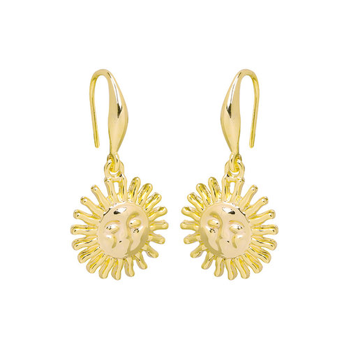 LADYLIKE THE LABEL Earrings Smiling Sun Gold