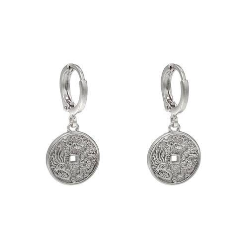 LADYLIKE THE LABEL Earrings oriental coin Silver