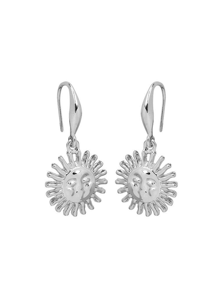 LADYLIKE THE LABEL Earrings Smiling Sun Silver
