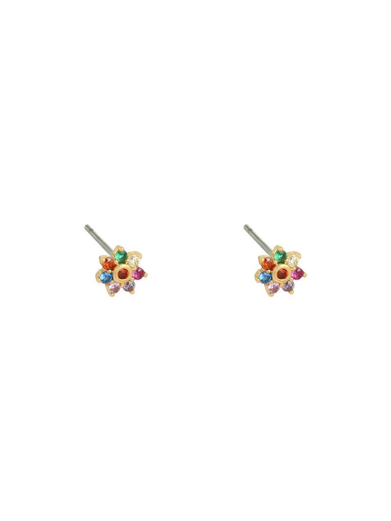 LADYLIKE THE LABEL Earrings Mini Flower Gold/Multi