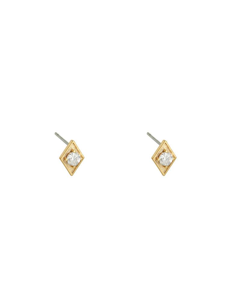 LADYLIKE THE LABEL Earrings Rhinestone Triangle Gold