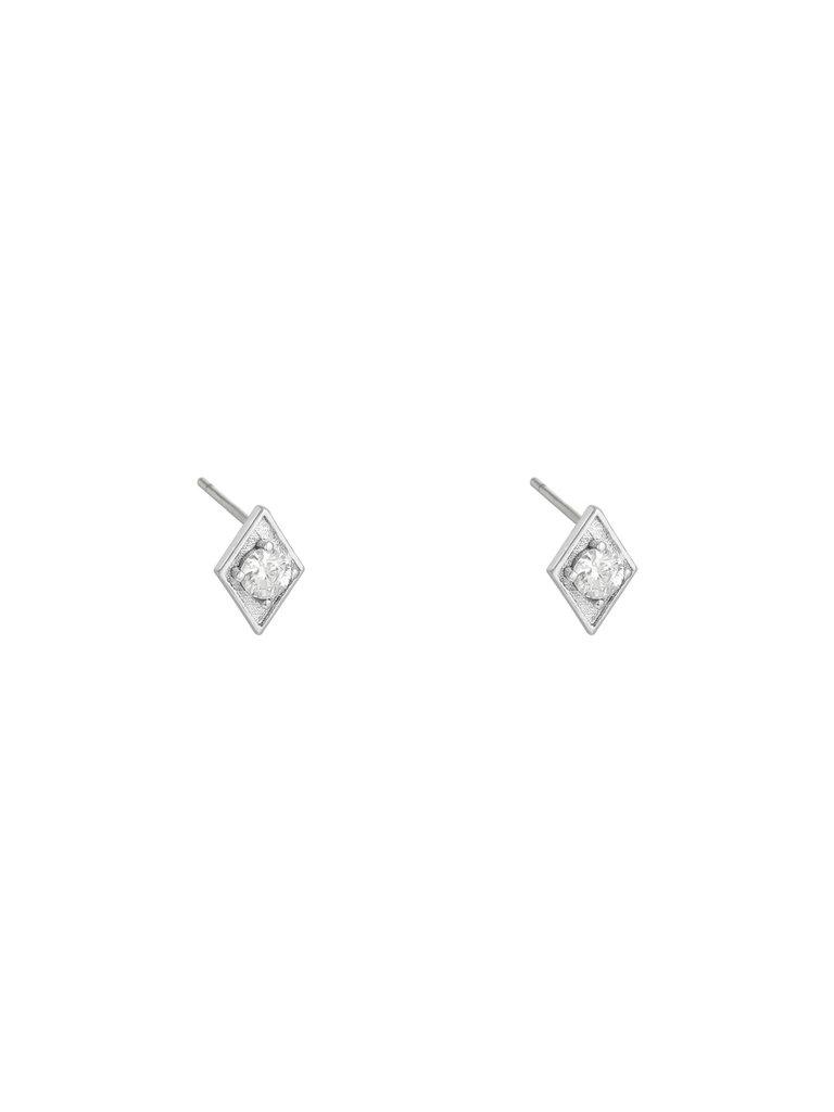 LADYLIKE THE LABEL Earrings Rhinestone Triangle Silver