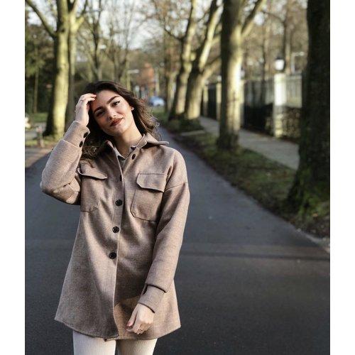 LADYLIKE FASHION Blouse Jacket Beige