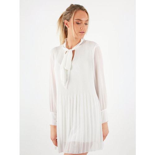 AMBIKA Plisse Dress White