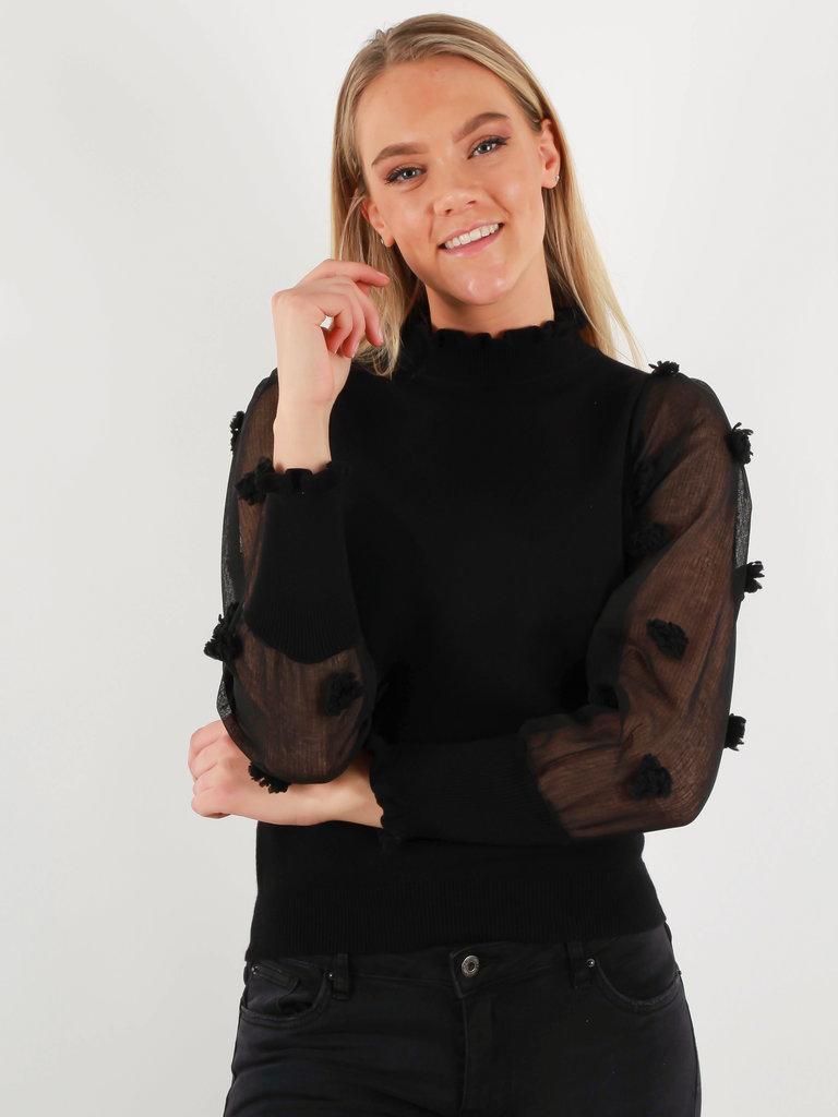 BISOU'S PROJECT Jumper Dot Sleeve Black