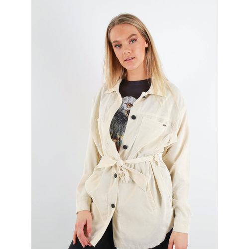 AMBIKA Rib Dress/Jacket Belt White