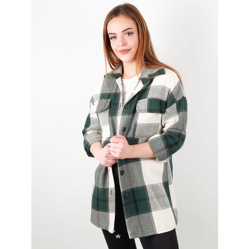 NEW COLLECTION Checkered Jacket Green/White
