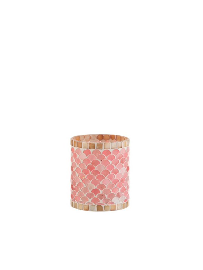 J-LINE PLEASURE OF LIVING Tealight Holder Pink