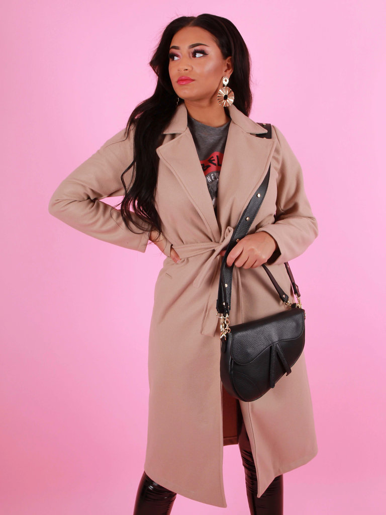 NEW COLLECTION Long Jacket Beige
