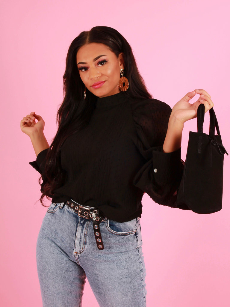 TEATRO Suede - Small Shoulder bag - Black