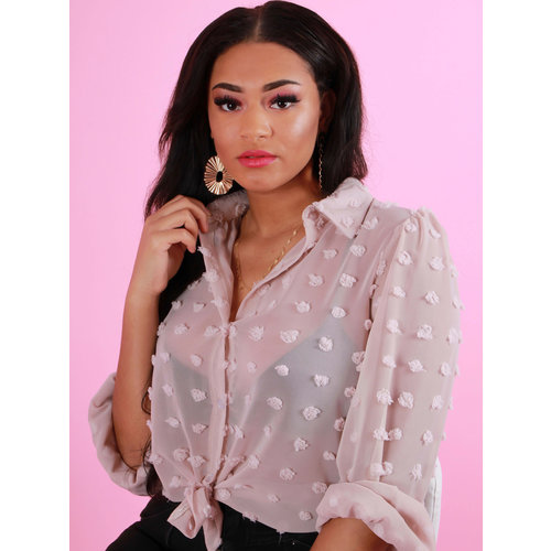 NEW COLLECTION Dots Blouse Roze