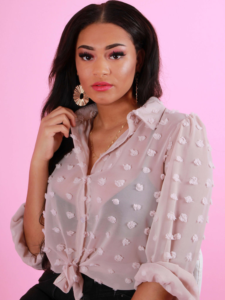 NEW COLLECTION Dots Blouse Rose