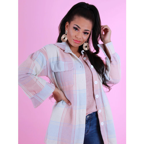 NEW COLLECTION Checkered Blouse Pastels