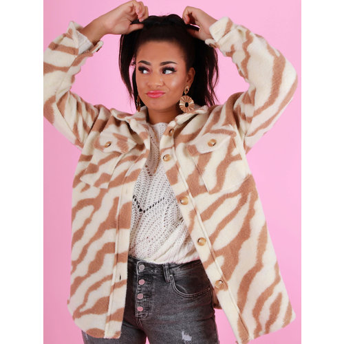 BELLAVIE Zebra Jacket Camel