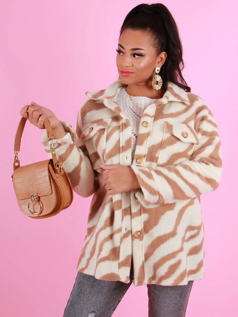 TEATRO Leather Bag Gold Circle Croco Camel