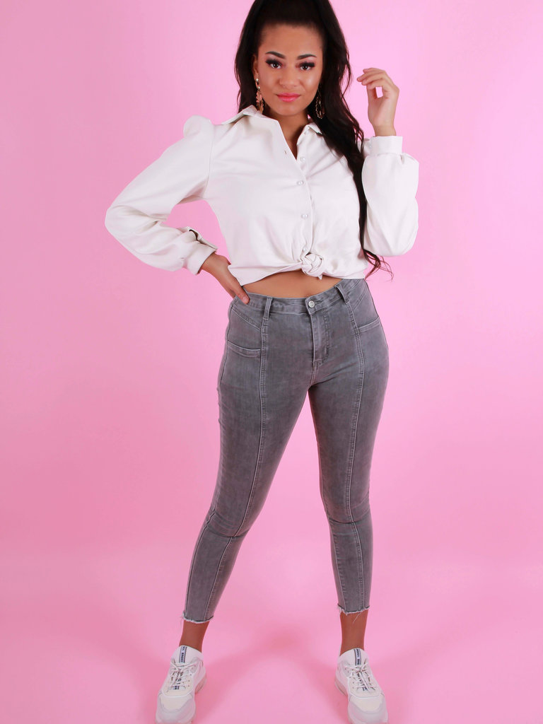 REDIAL Skinny Jeans High Rise Grijs