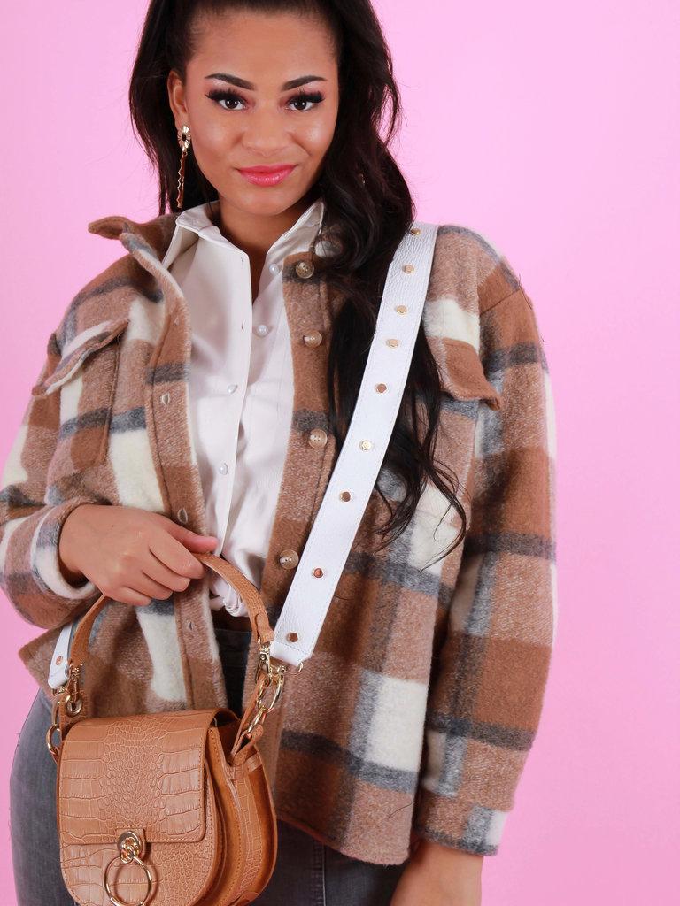 TEATRO Classic Grain - shoulder strap - White