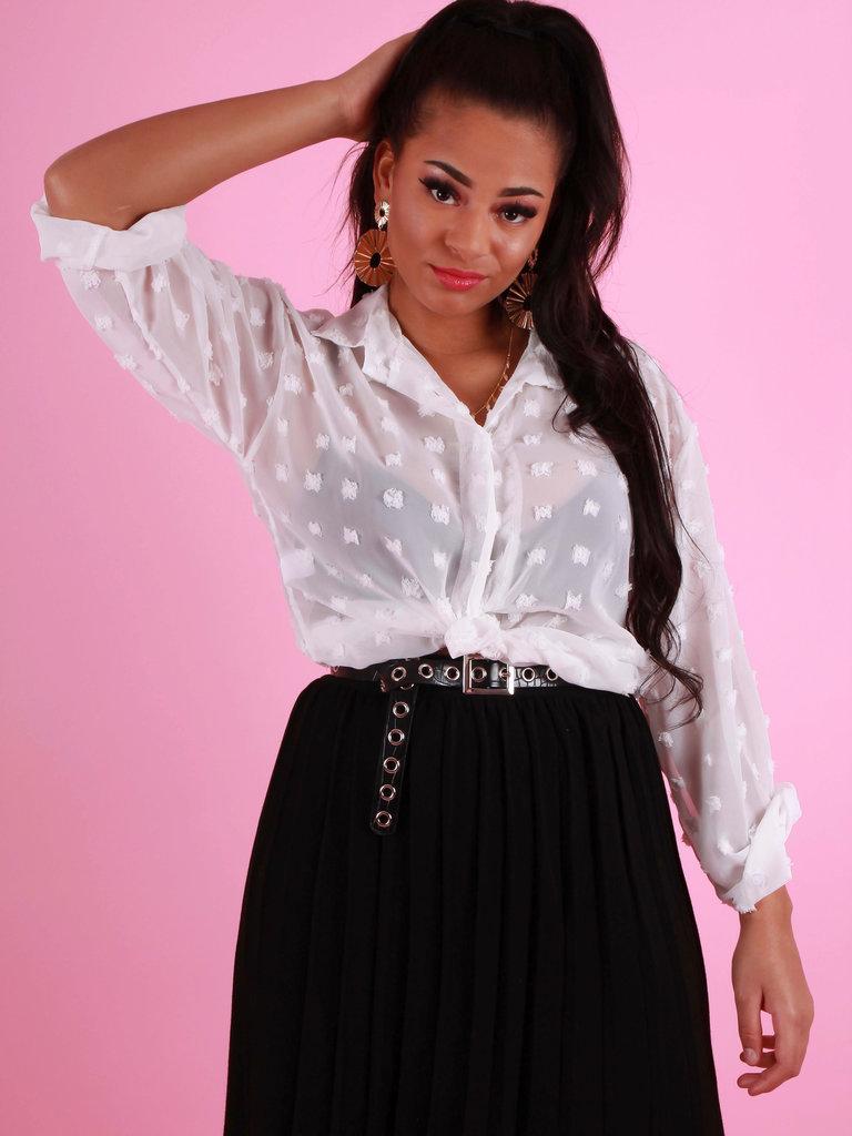 YU & ME Pleated Skirt Black