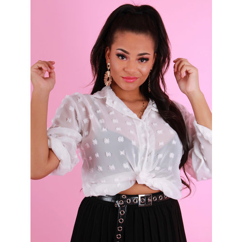 NEW COLLECTION Dots Blouse Wit