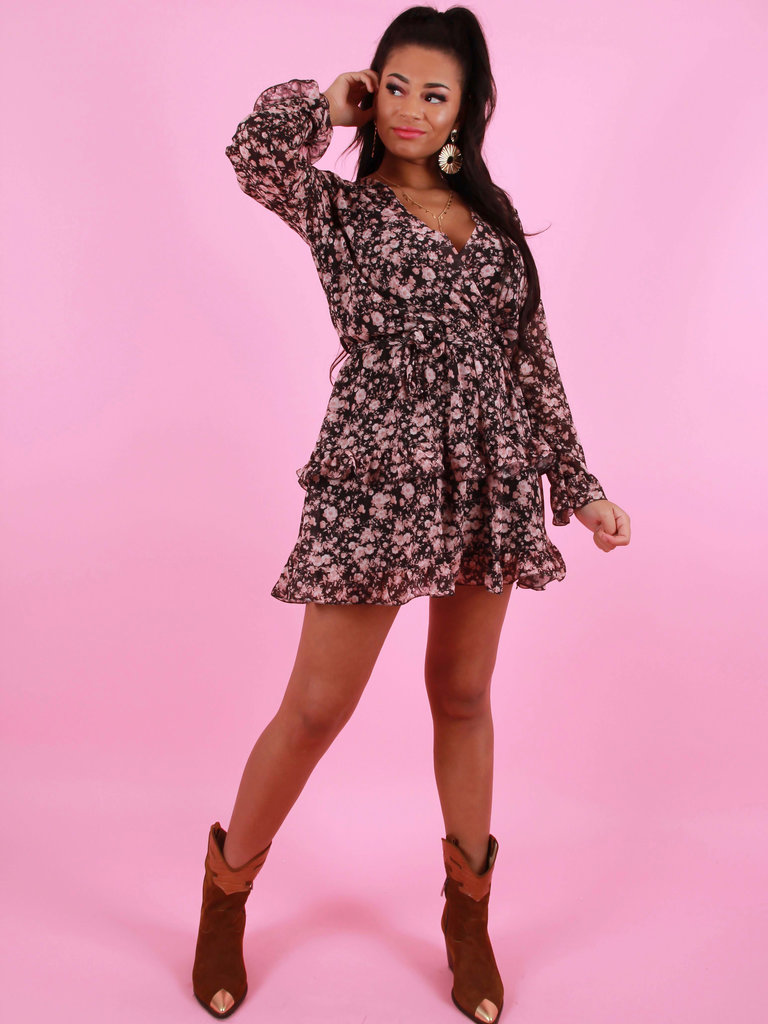 JUMELLE Ruffled Dress Pink