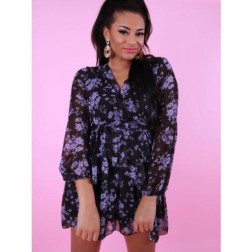 JUMELLE Wrap Floral Print Dress Lilac