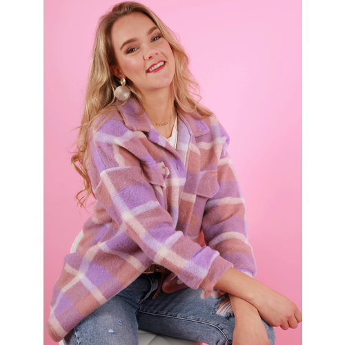 NEW COLLECTION Checkered Jacket Lilac