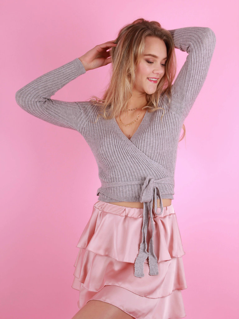 NEW COLLECTION Knitted Top Grey
