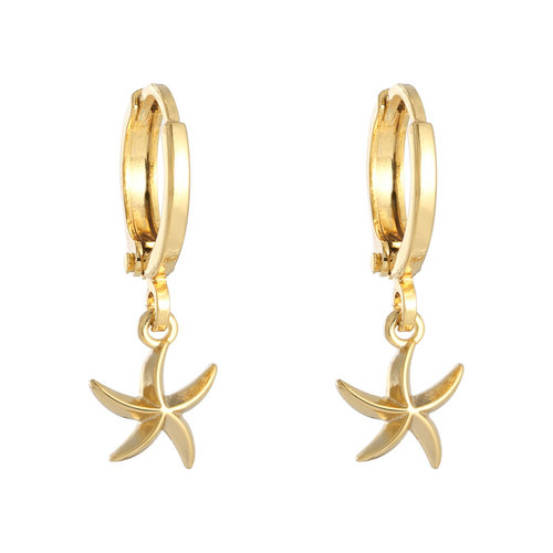 YEHWANG Earrings Starfish Gold