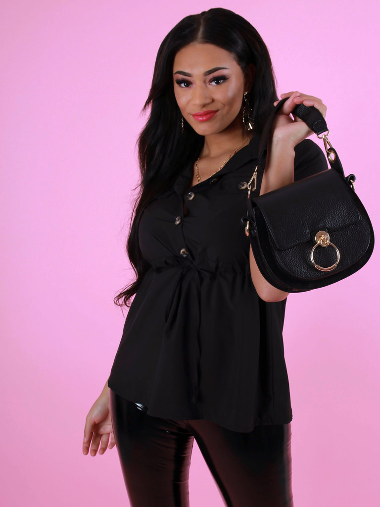 TEATRO Black - Classic Grain - Crossbody Bags Leather