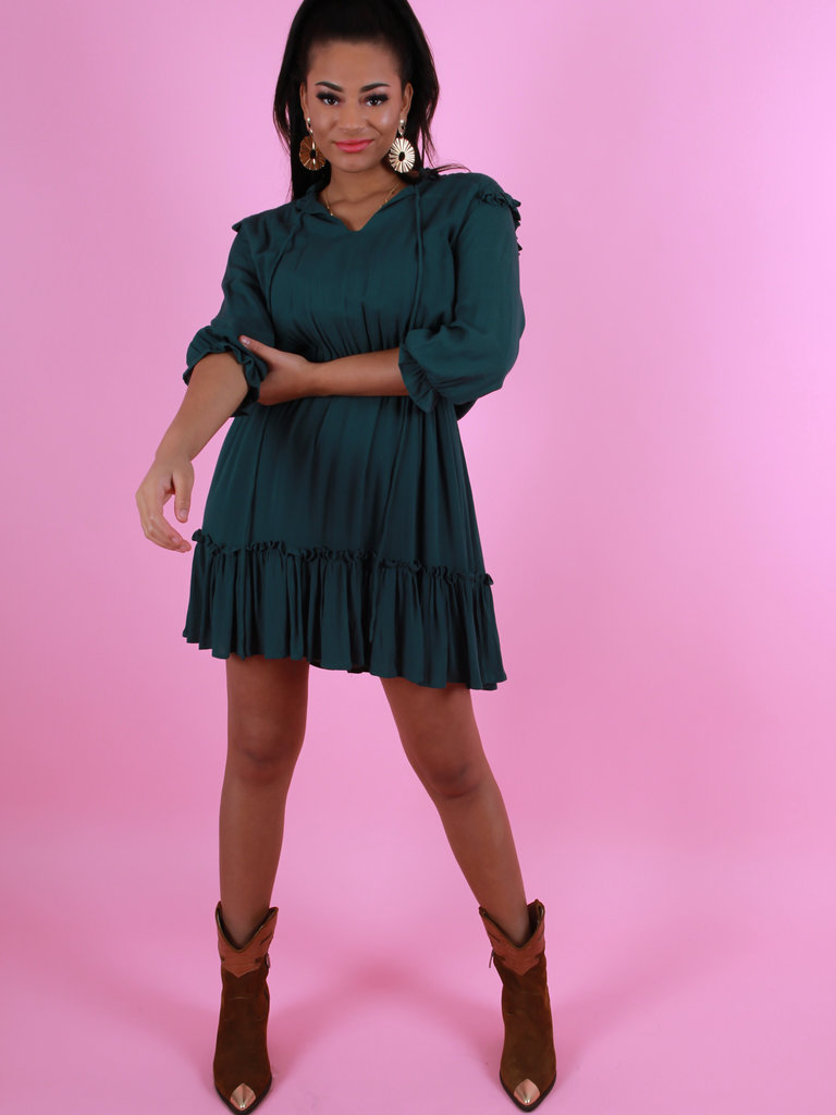 LADYLIKE THE LABEL Dress Ruffle Green