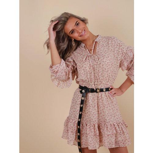 IVIVI Printed Dress Ecru