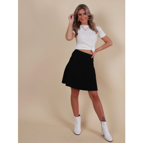 BY CLARA Knitted Skirt Black