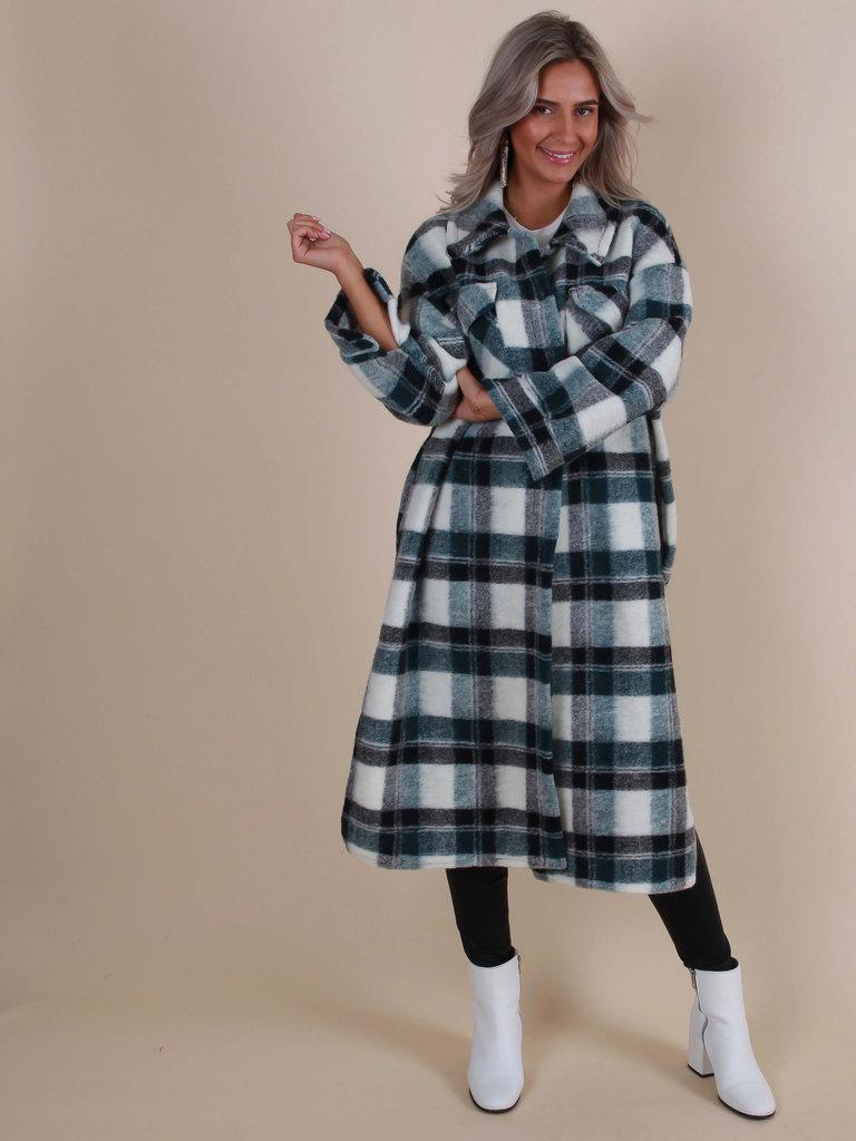 LIULI Checkered Dress/Jacket Green