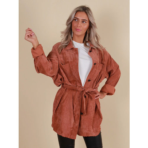 AMBIKA Rib Dress/Jacket Belt Rust