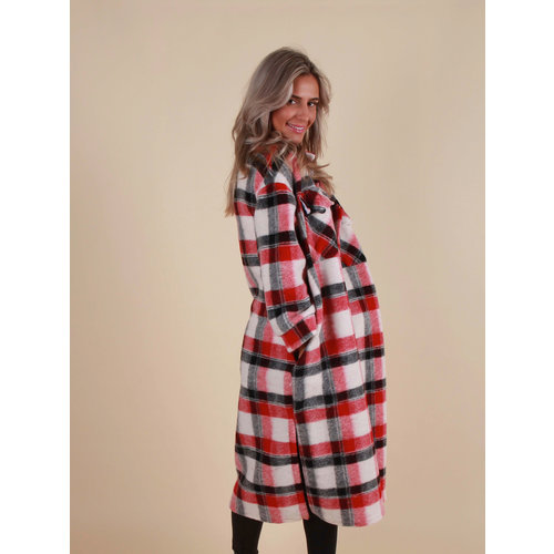 LIULI Checkered Dress/Jacket Red