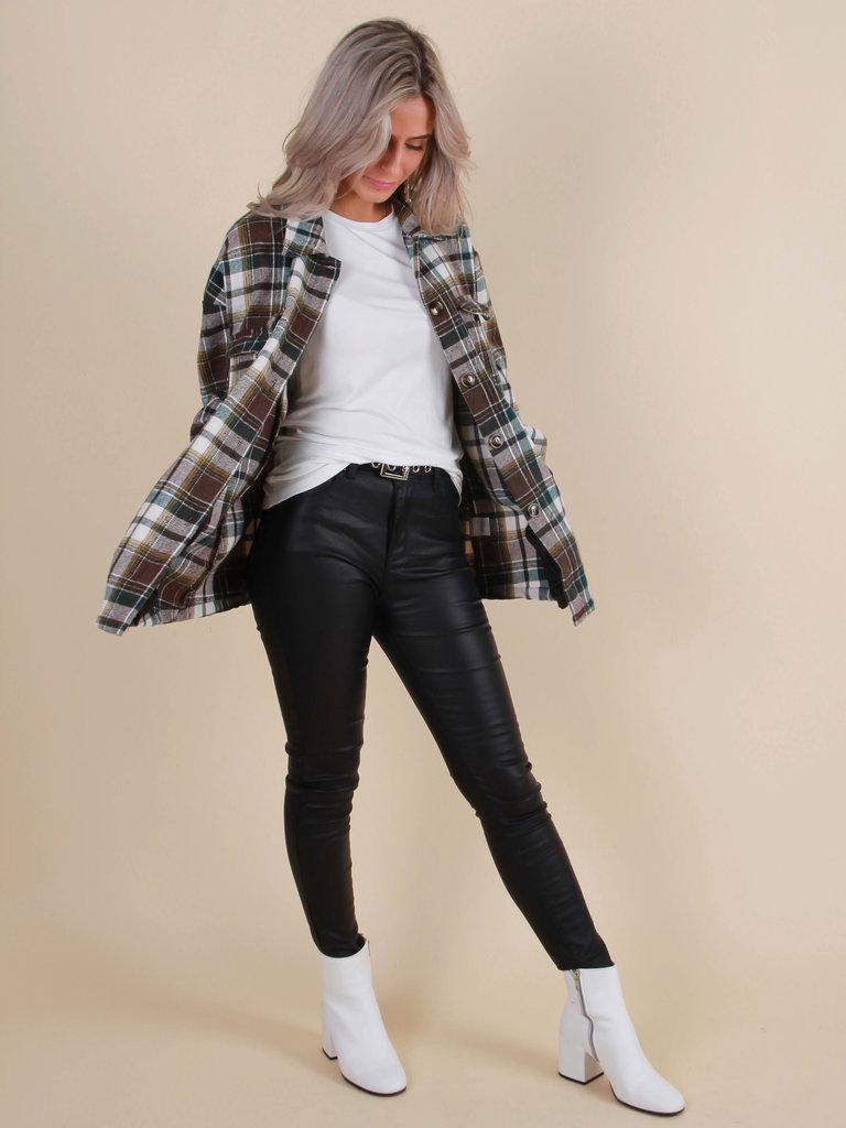 TOXIK Gecoate Jeans Zwart