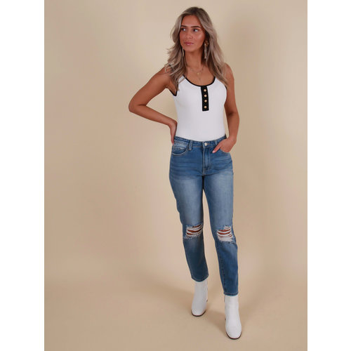 LADYLIKE FASHION High Waist Boyfriend Jeans
