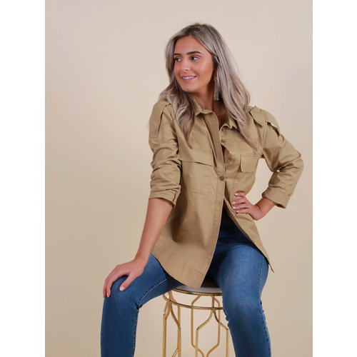 IVIVI Utility Blouse Taupe
