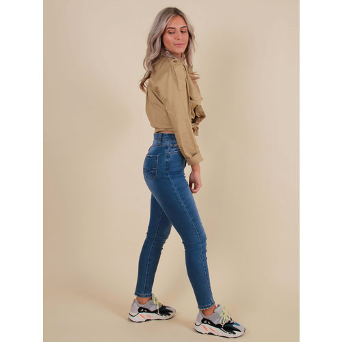 LADYLIKE FASHION Queen Hearts Skinny Crop High Waisted