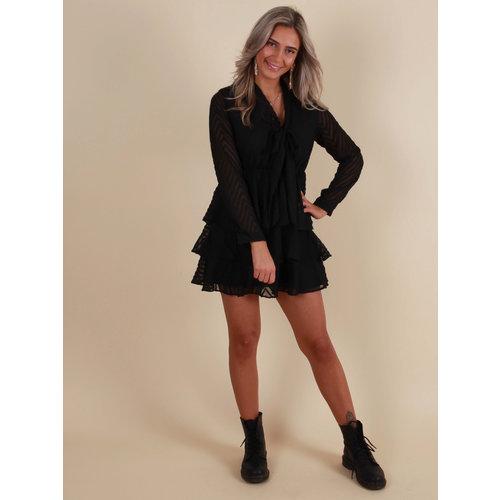 IVIVI Dress Ruffle Black