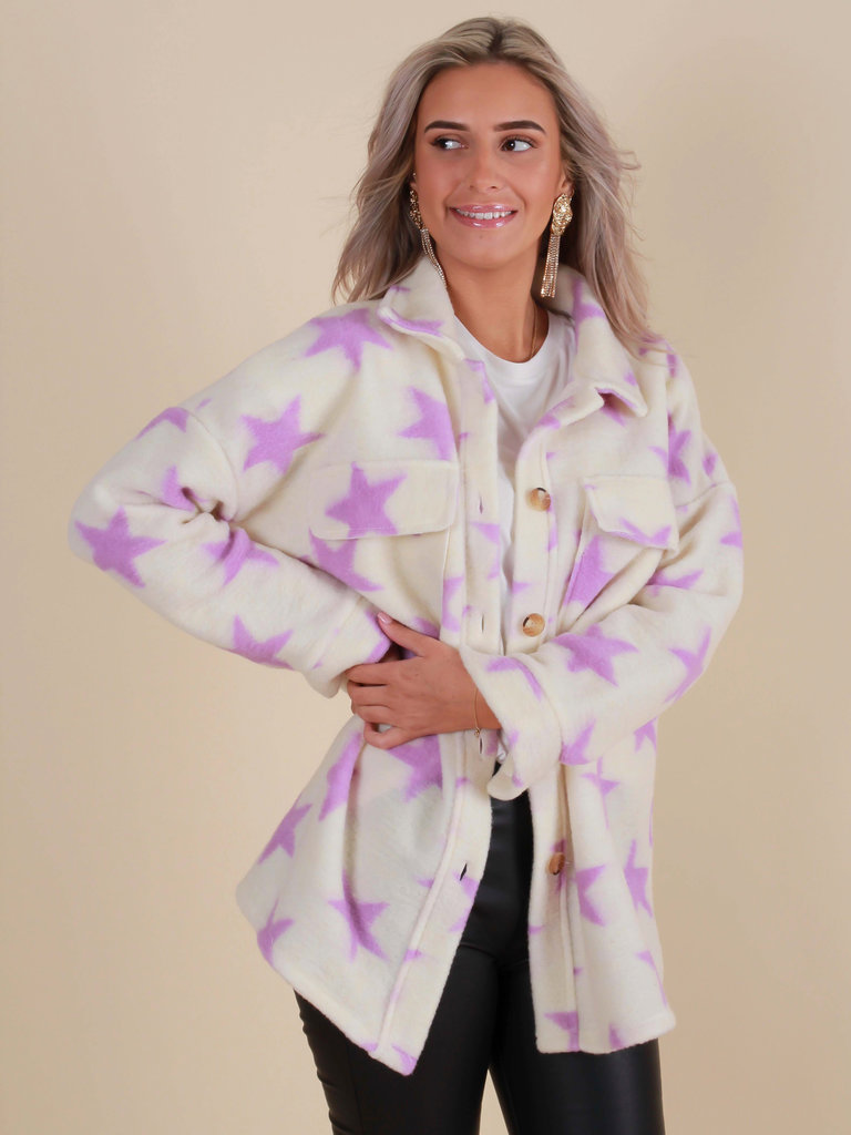 WHITE ICY Star Jacket Lilac