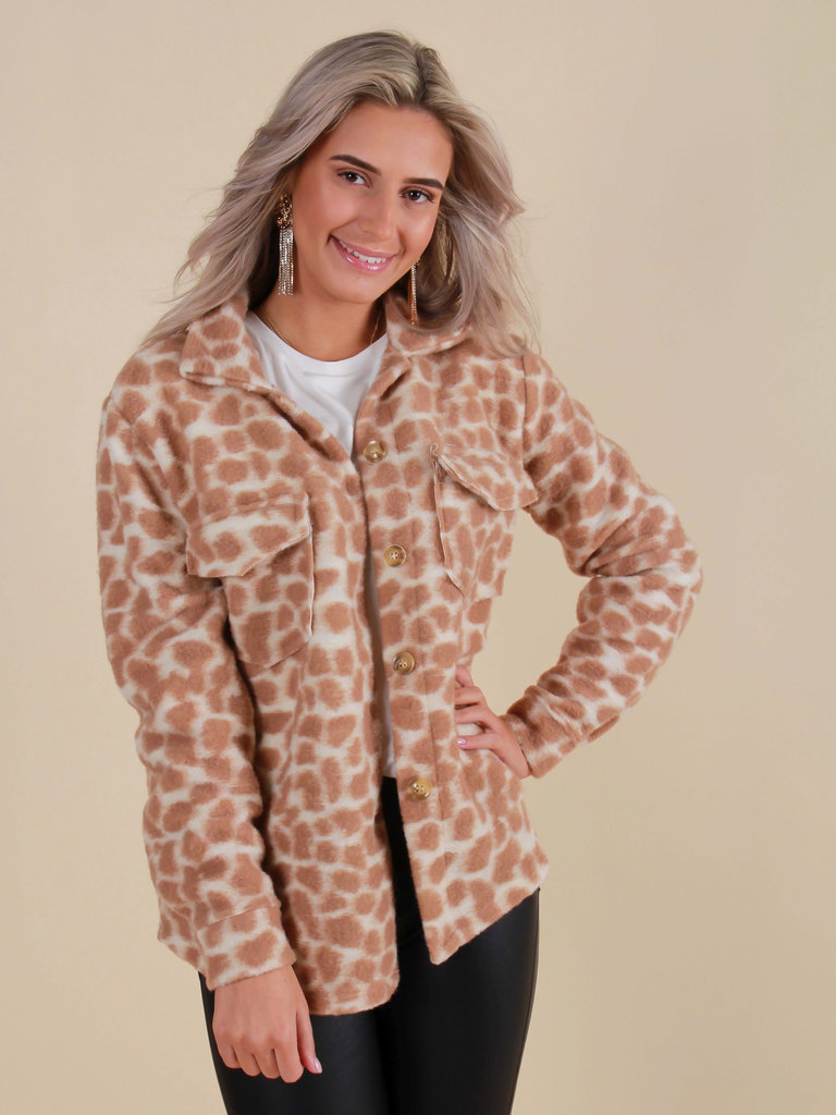 NEW COLLECTION Dot Print Jas Camel