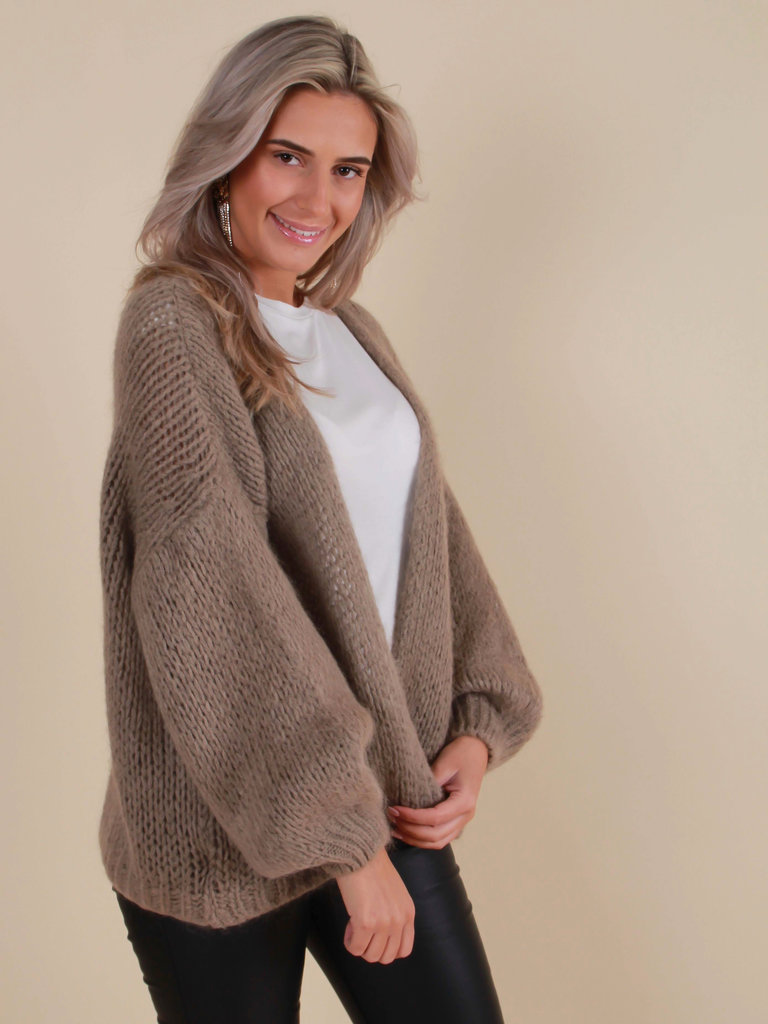 ALEXANDRE LAURENT Knitted Cardigan Soft Brown
