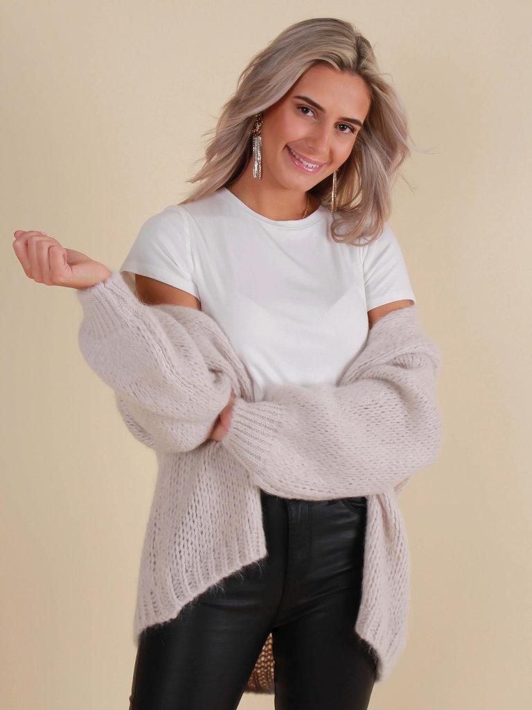 MIKA ELLES Cardigan Knit Taupe