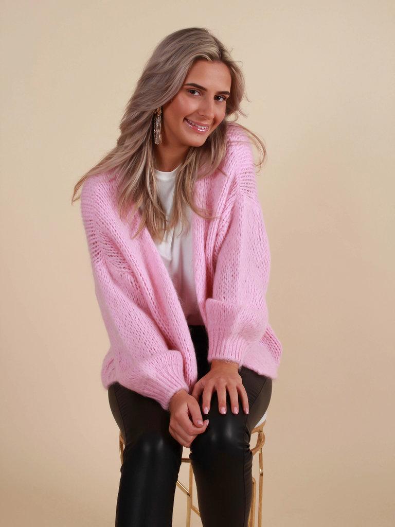 MIKA ELLES Cardigan Knit Baby Pink