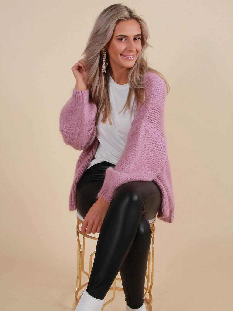 ALEXANDRE LAURENT Knitted Cardigan Lilac