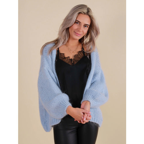 MIKA ELLES Knitted Cardigan Baby Blue
