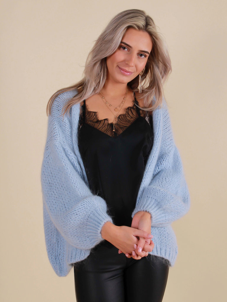 ALEXANDRE LAURENT Knitted Cardigan Baby Blue